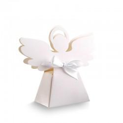 PUDEŁECZKA podziękowanie dla gości Aniołek 10szt (+białe wstążki)