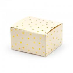 PUDEŁECZKA dekoracyjne kwadratowe Kraft 10szt 6x5,5x3,5cm