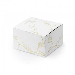 PUDEŁECZKA dekoracyjne Złote gałązki 10szt 6x3,5x5,5cm