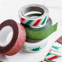 TAŚMY dekoracyjne samoprzylepne świąteczne 40m 4szt