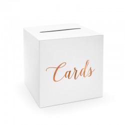 PUDEŁKO na wizytówki i ulotki Cards ROSEGOLD 24x24x24cm