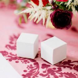 PUDEŁECZKA dekoracyjne kwadratowe białe 10szt 5x5x5cm