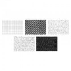 PAPIER pakowy ozdobny biało-czarny MIX 50szt 68,5x100cm