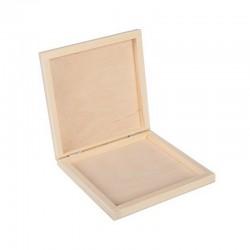 PUDEŁKO drewniane płaskie 15x16,8cm