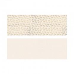 PAPIER pakowy ozdobny złote liście i kropki MIX 2szt 70x200cm