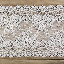 KORONKA dekoracyjna na szpuli Delikatna 15cm x 9m