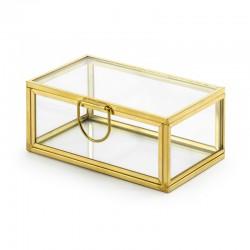 SZKATUŁKA szklana na biżuterię 9x5,5x4cm