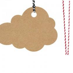 ZAWIESZKI dekoracyjne chmurki czarne 6szt 7,5x5,5cm