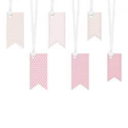 ZAWIESZKI dekoracyjne flaga Sweets 6szt MIX 4,3x9
