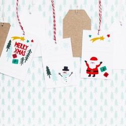 ZAWIESZKI świąteczne Merry Christmas MIX 6szt 5,5x8,5cm