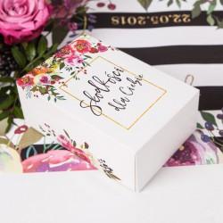 PUDEŁKA dekoracyjne prostokątne Kwiaty 10szt 19x12,5x7cm