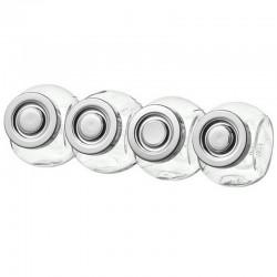 SŁOICZKI szklane metalowe zakrętki 4szt 150ml