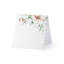WIZYTÓWKI bileciki składane Kwiaty 10szt 7x7,5cm