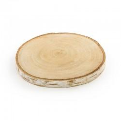 KRĄŻKI drewniane naturalne 2szt 10-12cm
