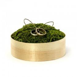 PUDEŁKO drewniane z mchem na biżuterię 12cm