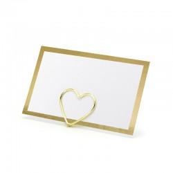 WIZYTÓWKI bileciki składane Złota ramka 10szt 9,5x5,5cm