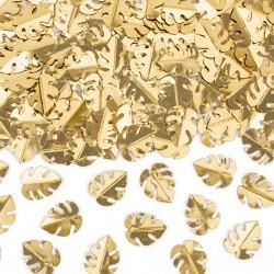 KONFETTI metaliczne Złote Liście 15g 1,5x2cm