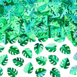 KONFETTI metaliczne Zielone Liście 15g 1,5x2cm