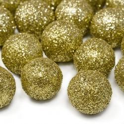 KONFETTI brokatowe kulki złote 25szt 2cm