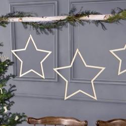 ZAWIESZKI drewniane do aranżacji Gwiazdy 3szt