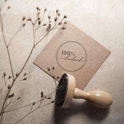 STEMPEL z napisem 100% Handmade