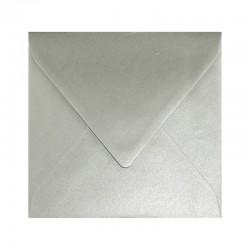 KOPERTY kwadratowe ozdobne metaliczne 10szt srebrne