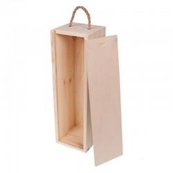 SKRZYNIA drewniana na 1 butelkę 35x12x11cm