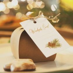 ZAWIESZKA świąteczna do prezentów Woodland