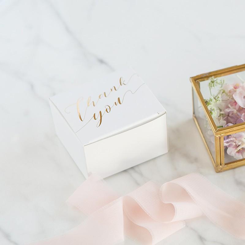 pudełeczka ozdobne z metalicznym napisem