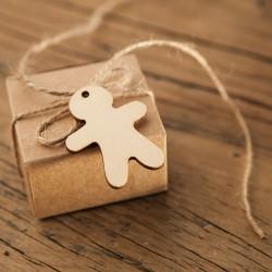 ZAWIESZKI świąteczne drewniane MIX 12szt