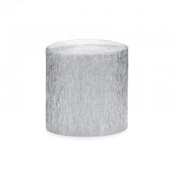 KREPA bibuła 5cm/10m 4szt SREBRNA
