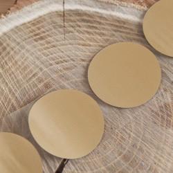 ZDRAPKI okrągłe złote 5cm 10szt