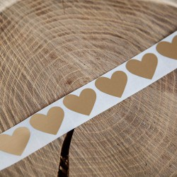 ZDRAPKI w kształcie serca złote 2,5x2,2cm 10szt