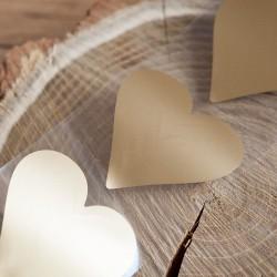 ZDRAPKI w kształcie serca złote 6x6cm 10szt