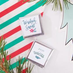 CZEKOLADKA świąteczna z logo firmy Merry Christmas