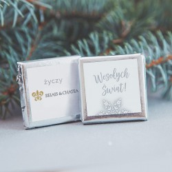 CZEKOLADKA świąteczna z logo firmy Snowland
