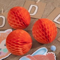 KULA bibułowa plaster miodu POMARAŃCZOWA 10cm