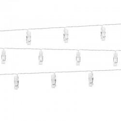 KLAMERKI z diodami led na sznurze 10szt 140cm