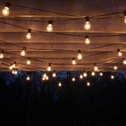 LAMPKI Led dekoracyjne żarówki CZARNE 5m